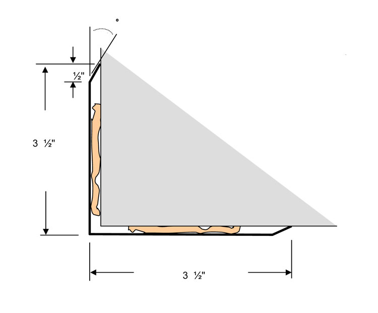 shop drawing stainless steel corner guard